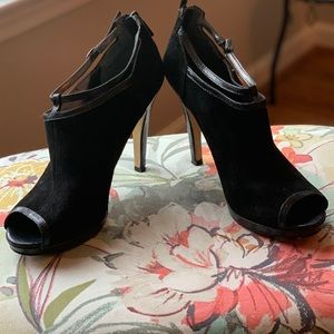 Nine West suede open toe bootie